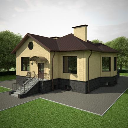 фото дом с цокольным этажом